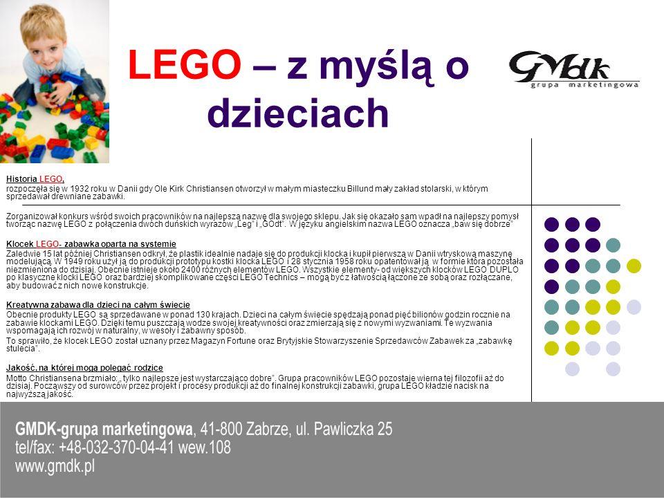 LEGO – z myślą o dzieciach