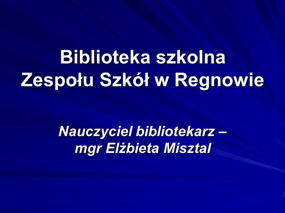 Biblioteka szkolna Zespołu Szkół w Regnowie