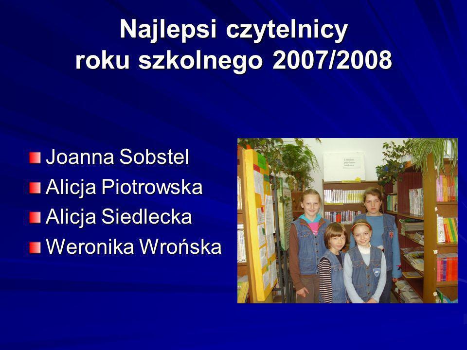 Najlepsi czytelnicy roku szkolnego 2007/2008