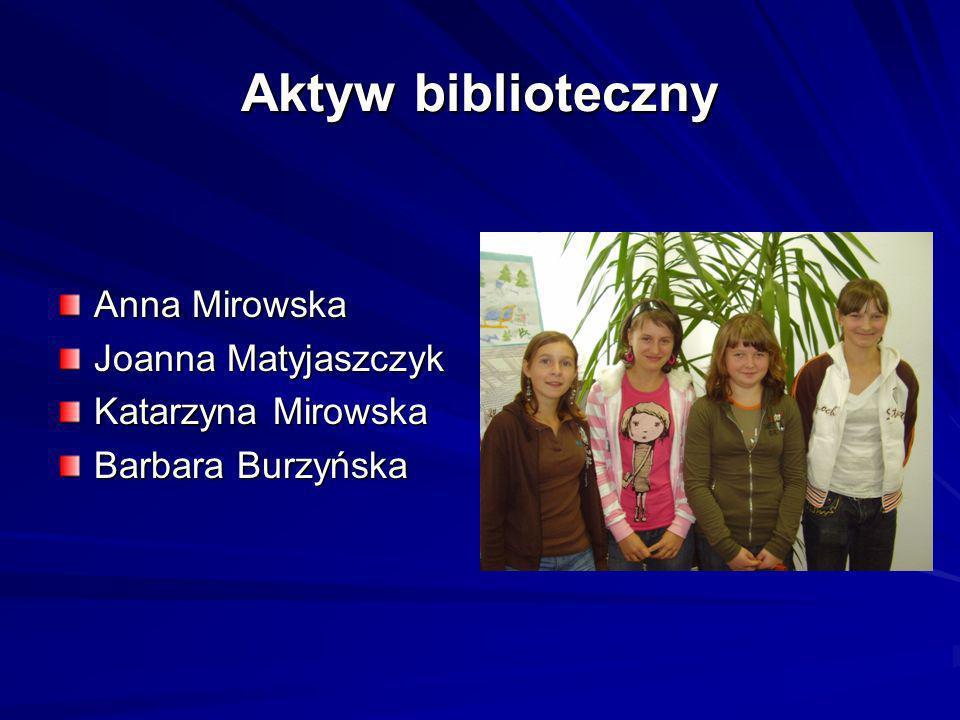 Aktyw biblioteczny Anna Mirowska Joanna Matyjaszczyk