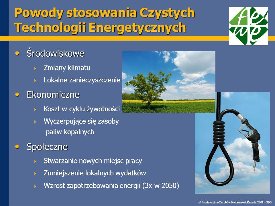 Powody stosowania Czystych Technologii Energetycznych