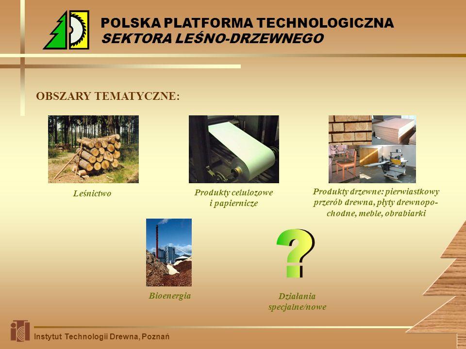 Produkty celulozowe i papiernicze Działania specjalne/nowe
