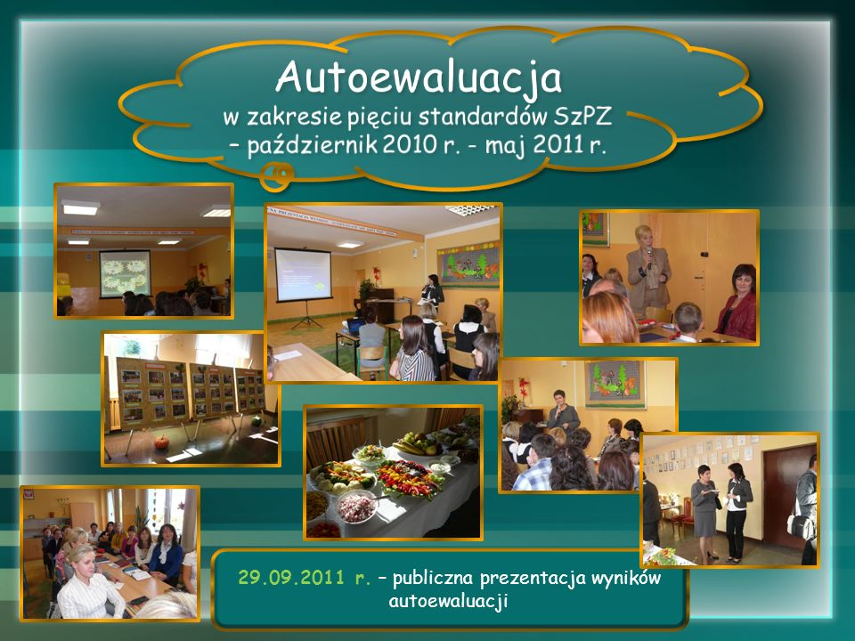 Autoewaluacja w zakresie pięciu standardów SzPZ – październik 2010 r.