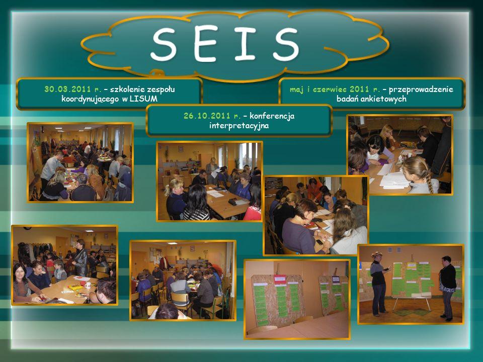 S E I S 30.03.2011 r. – szkolenie zespołu koordynującego w LISUM