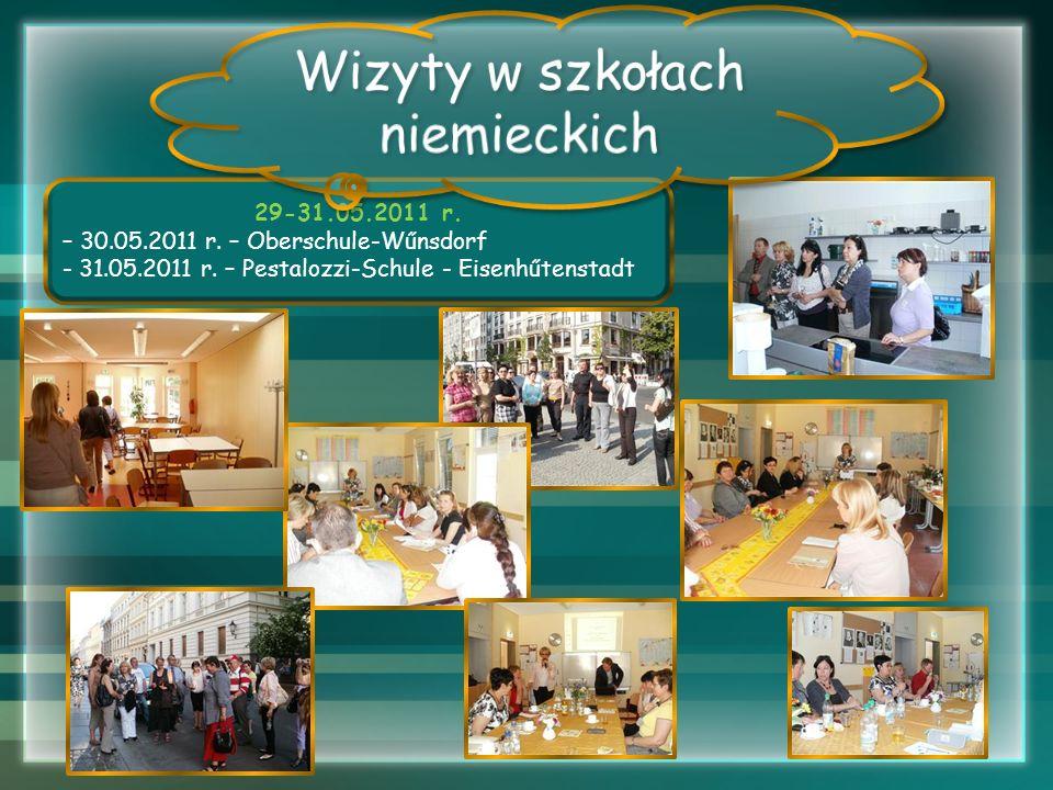 Wizyty w szkołach niemieckich 29-31.05.2011 r.