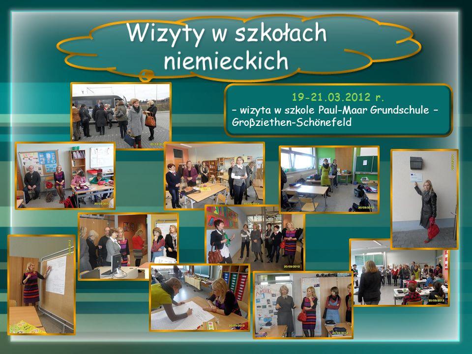 Wizyty w szkołach niemieckich 19-21.03.2012 r.