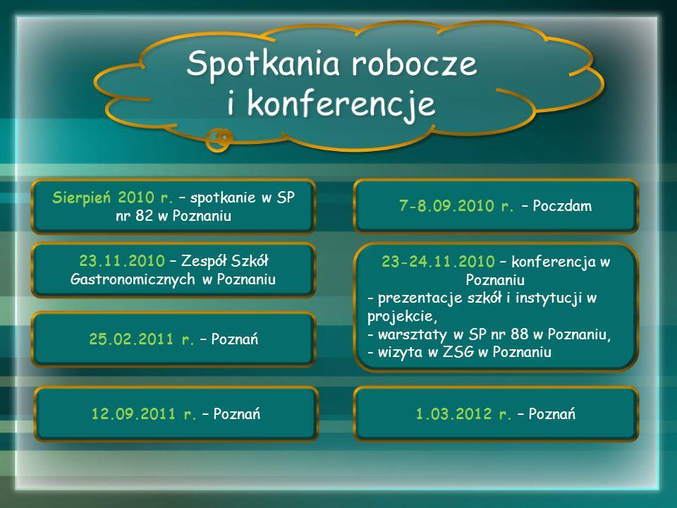 Spotkania robocze i konferencje Sierpień 2010 r. – spotkanie w SP