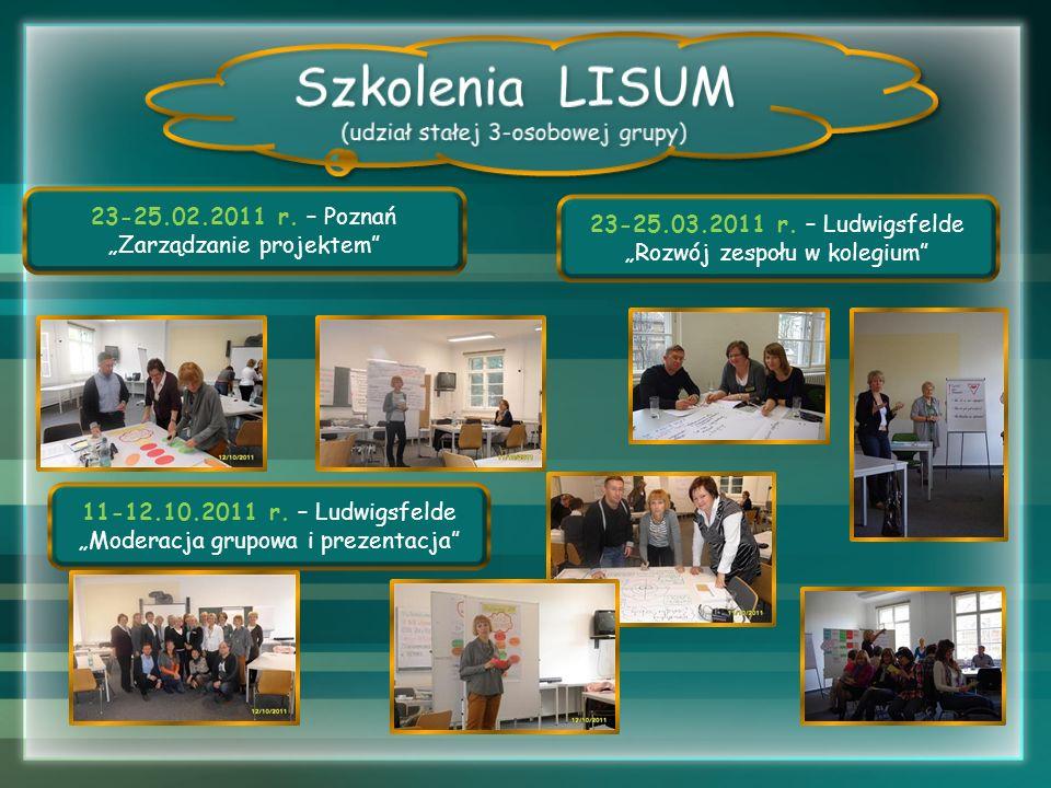 Szkolenia LISUM (udział stałej 3-osobowej grupy)