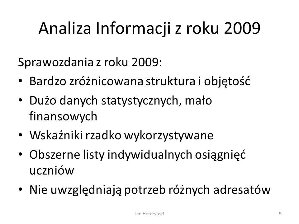 Analiza Informacji z roku 2009