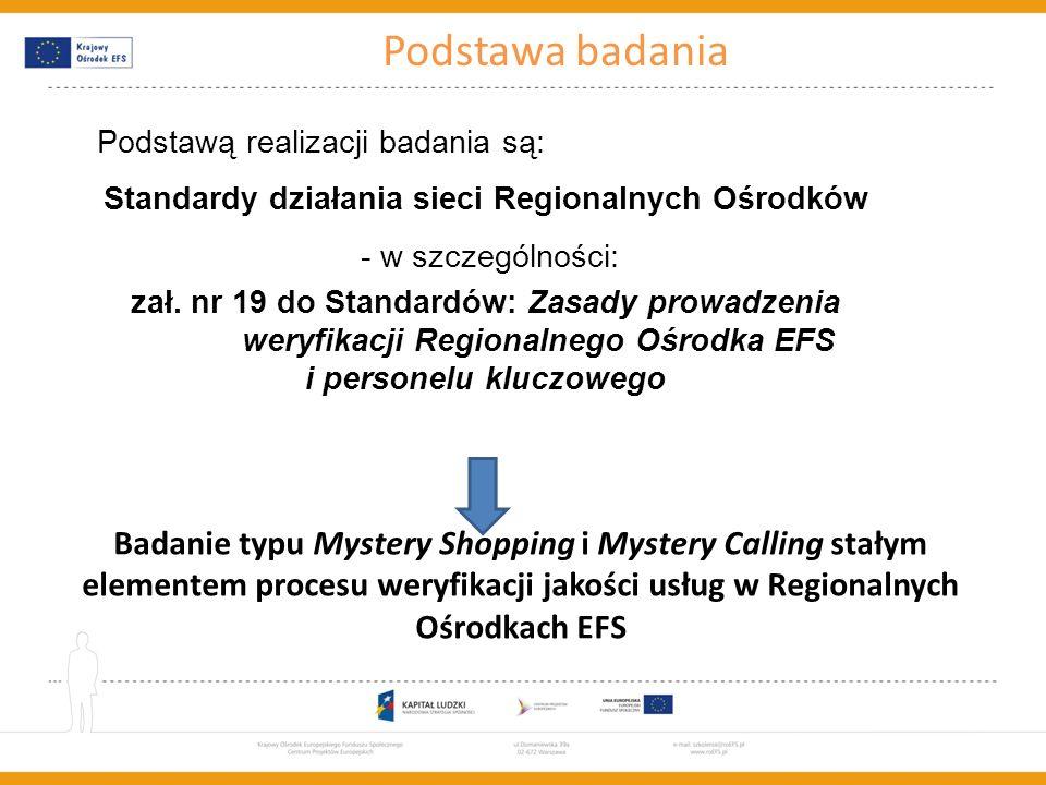 Standardy działania sieci Regionalnych Ośrodków i personelu kluczowego
