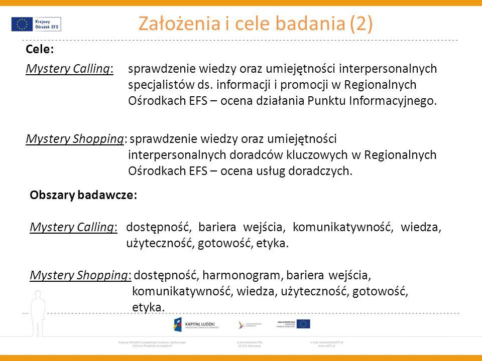 Założenia i cele badania (2)