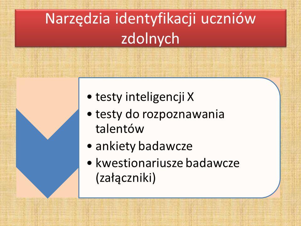 Narzędzia identyfikacji uczniów zdolnych