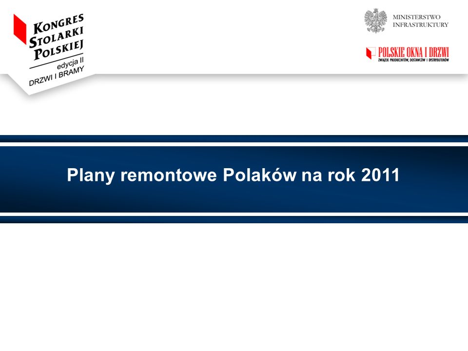 Plany remontowe Polaków na rok 2011