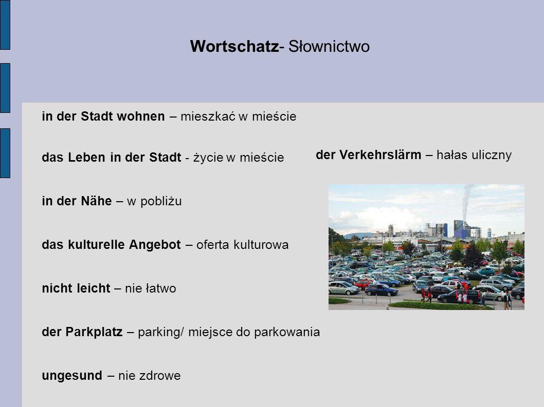Wortschatz- Słownictwo