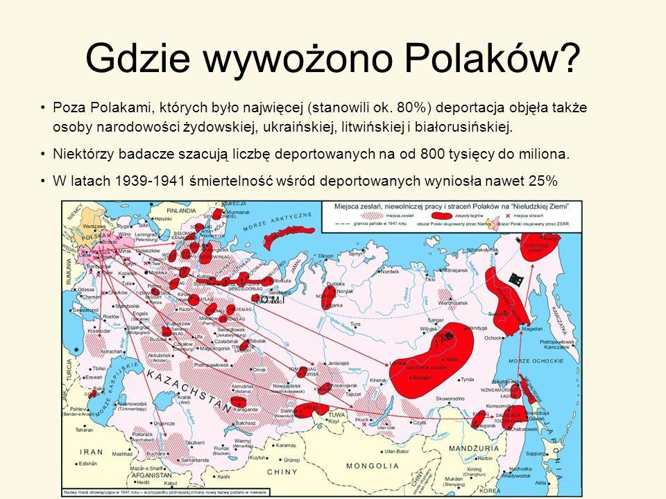 Gdzie wywożono Polaków