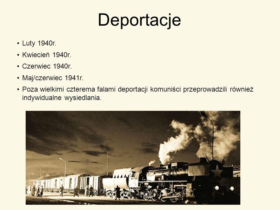 Deportacje Luty 1940r. Kwiecień 1940r. Czerwiec 1940r.