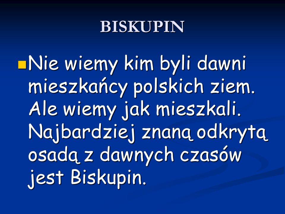 BISKUPIN Nie wiemy kim byli dawni mieszkańcy polskich ziem.