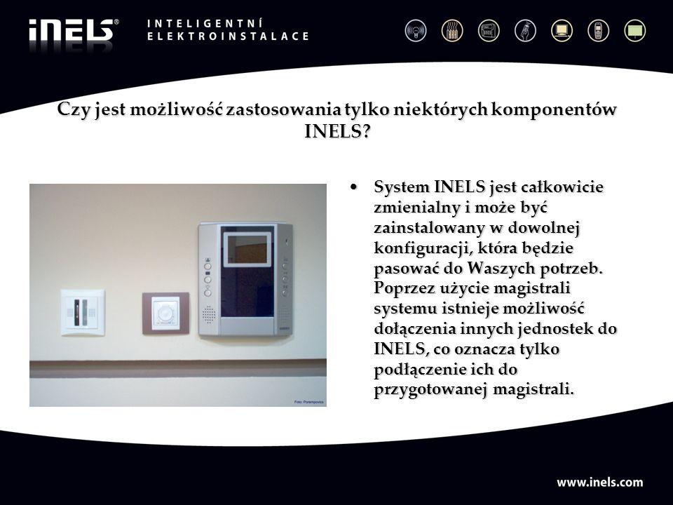 Czy jest możliwość zastosowania tylko niektórych komponentów INELS