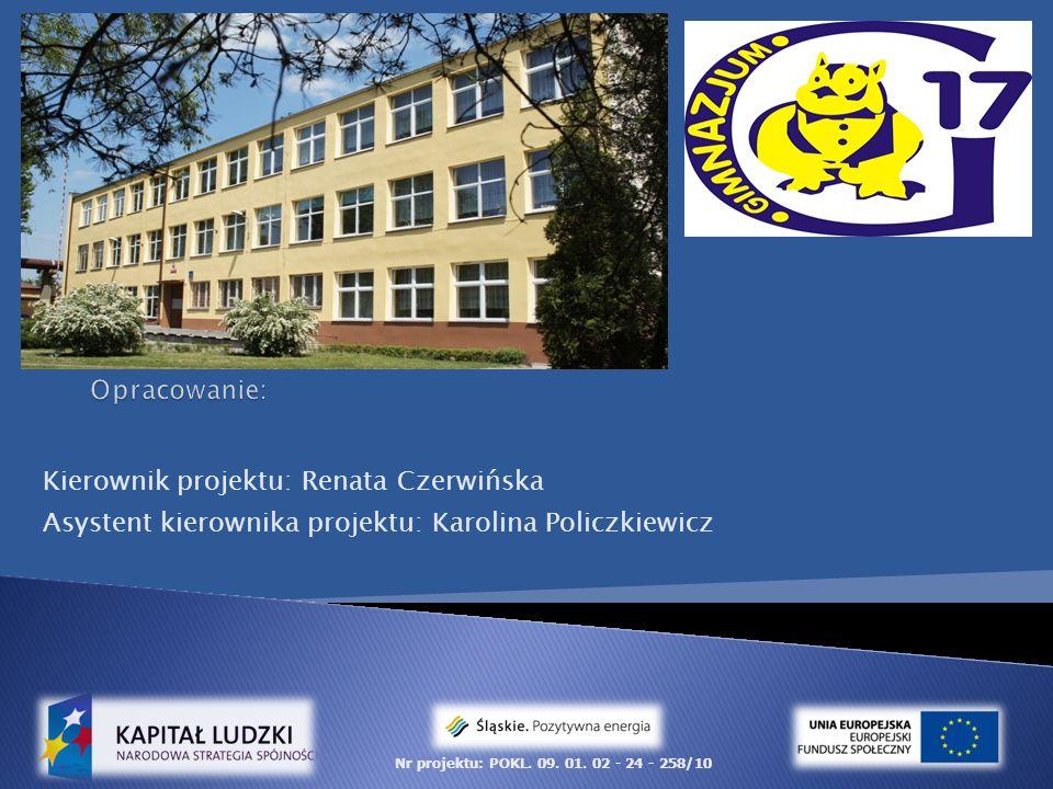 Kierownik projektu: Renata Czerwińska