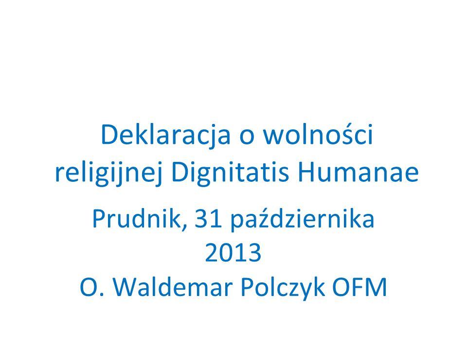 Deklaracja o wolności religijnej Dignitatis Humanae