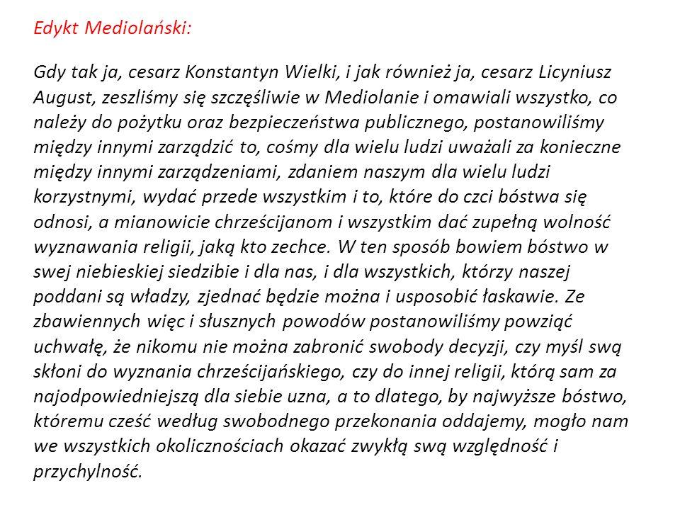 Edykt Mediolański: