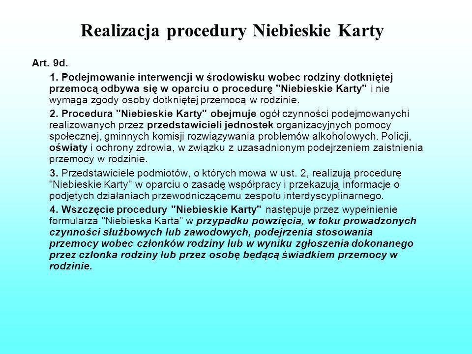 Realizacja procedury Niebieskie Karty