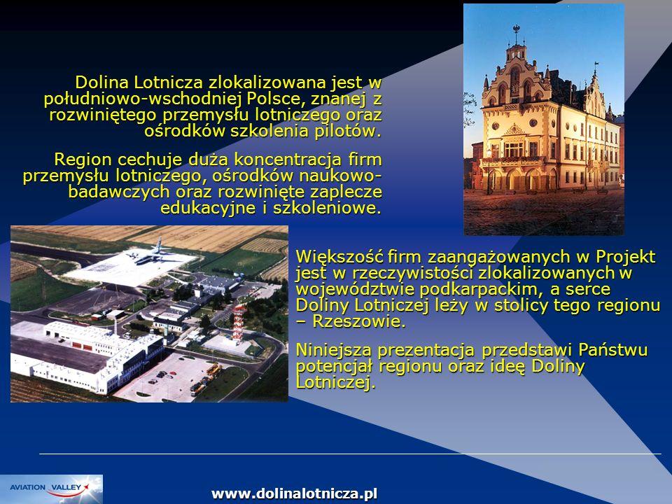 Dolina Lotnicza zlokalizowana jest w południowo-wschodniej Polsce, znanej z rozwiniętego przemysłu lotniczego oraz ośrodków szkolenia pilotów.