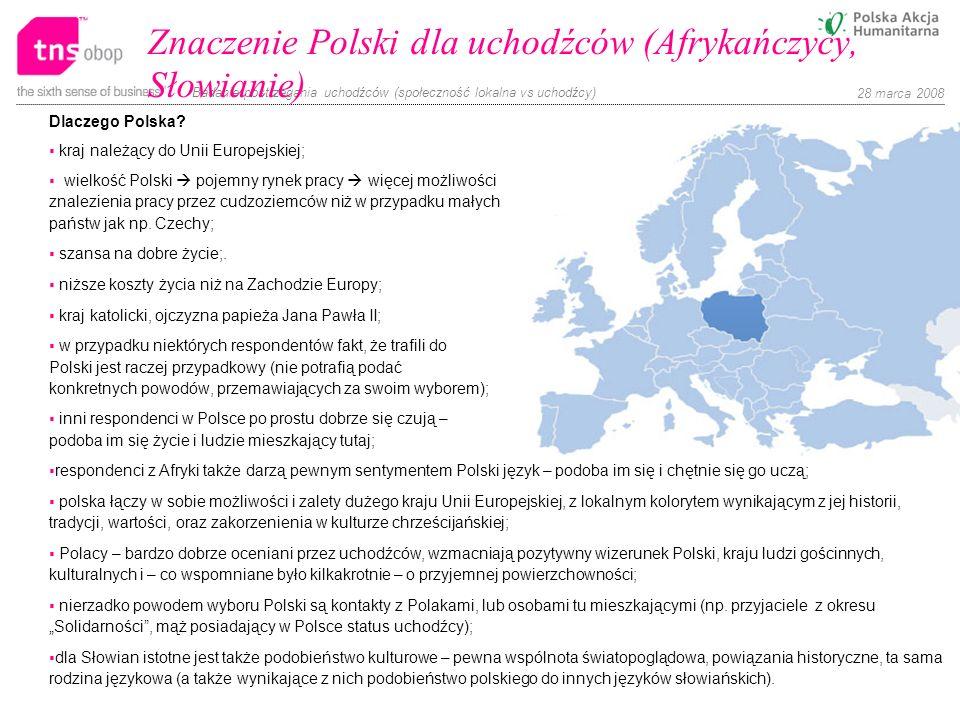 Znaczenie Polski dla uchodźców (Afrykańczycy, Słowianie)