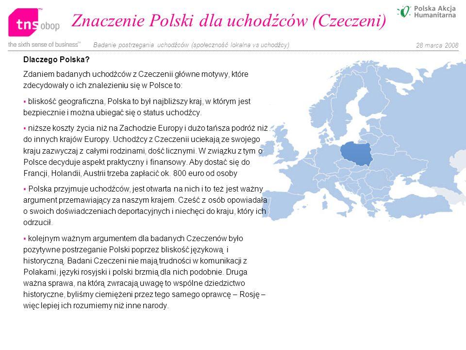 Znaczenie Polski dla uchodźców (Czeczeni)