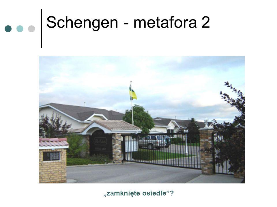 """Schengen - metafora 2 """"zamknięte osiedle"""