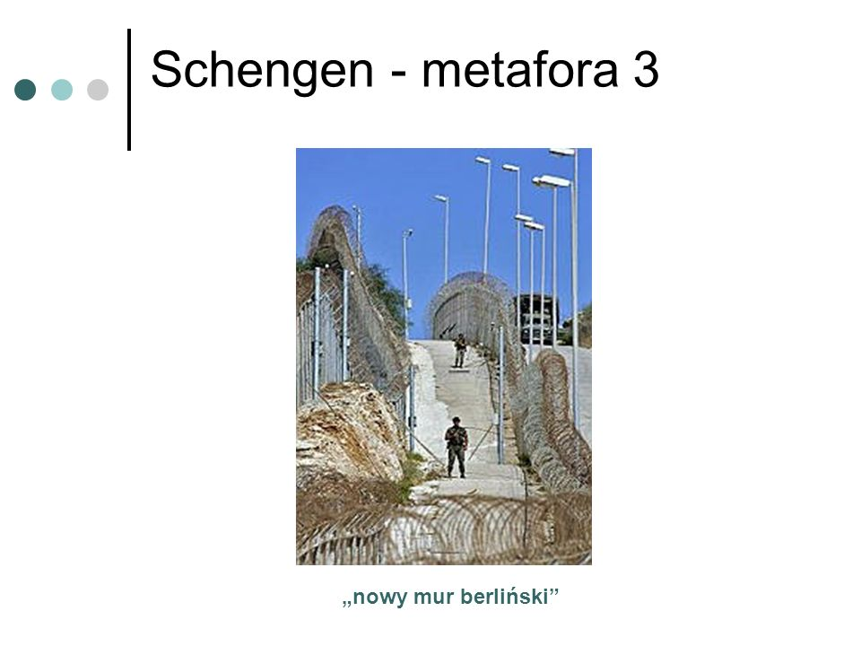 """Schengen - metafora 3 """"nowy mur berliński"""