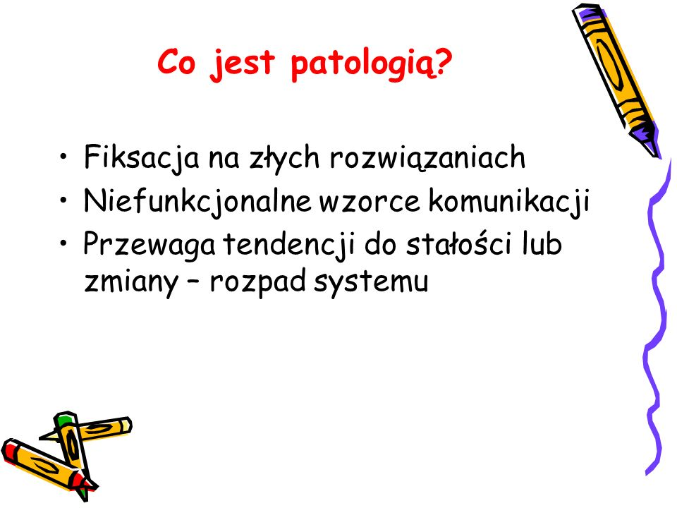 Co jest patologią Fiksacja na złych rozwiązaniach