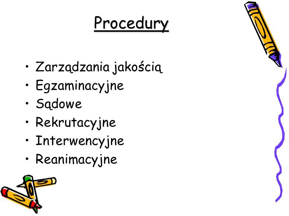 Procedury Zarządzania jakością Egzaminacyjne Sądowe Rekrutacyjne