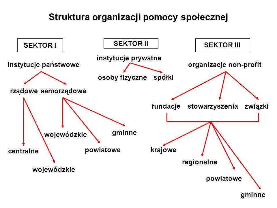 Struktura organizacji pomocy społecznej
