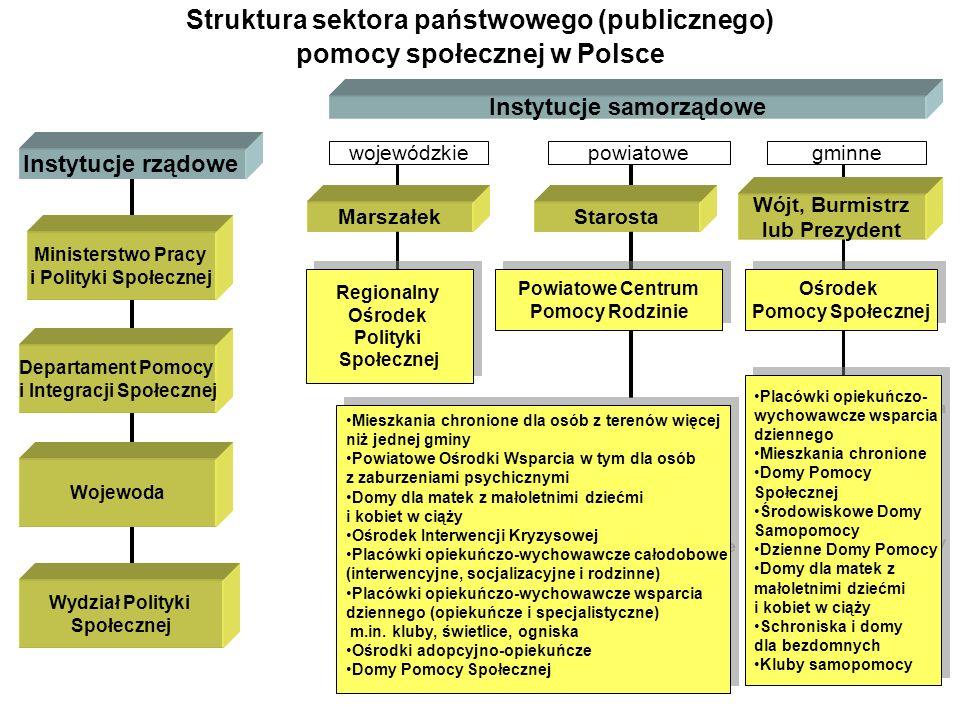 Struktura sektora państwowego (publicznego) pomocy społecznej w Polsce