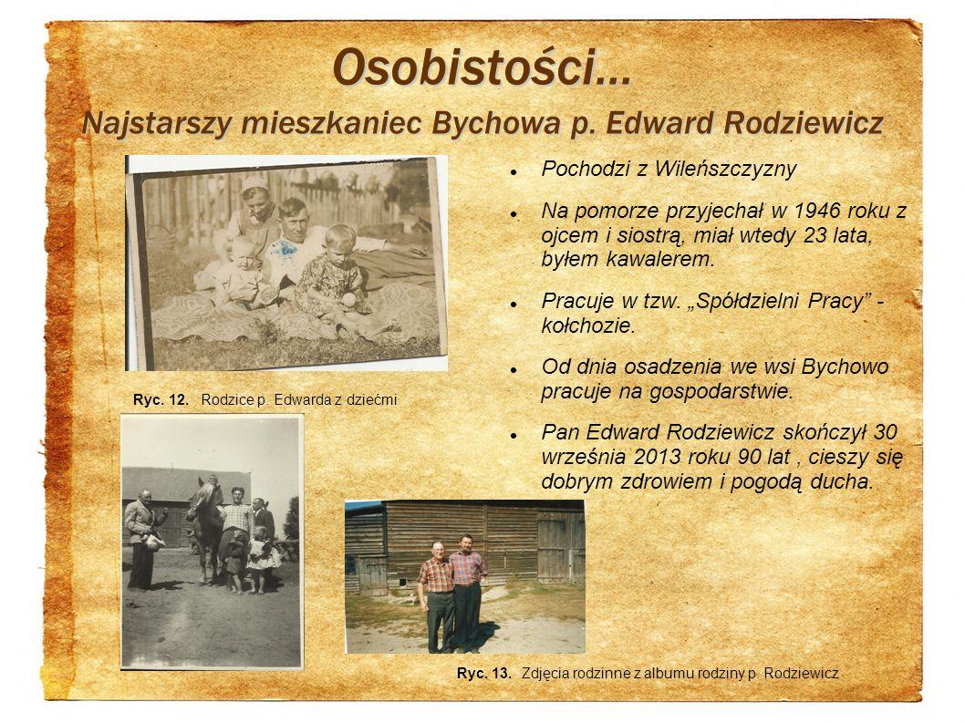 Osobistości... Najstarszy mieszkaniec Bychowa p. Edward Rodziewicz