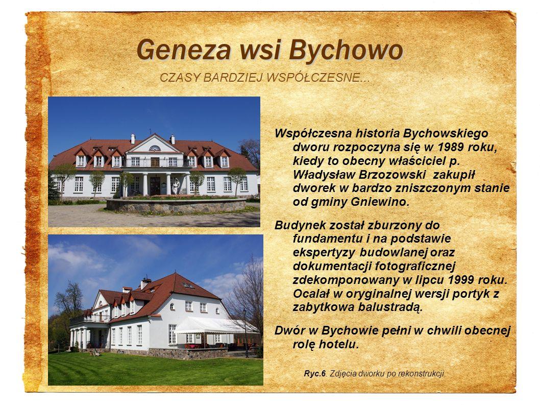 Geneza wsi Bychowo CZASY BARDZIEJ WSPÓŁCZESNE...