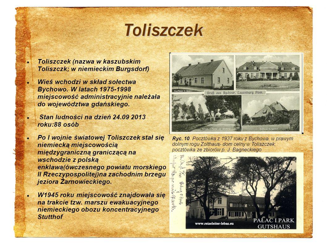 Toliszczek Toliszczek (nazwa w kaszubskim Toliszczk; w niemieckim Burgsdorf)