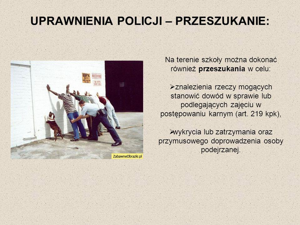 UPRAWNIENIA POLICJI – PRZESZUKANIE: