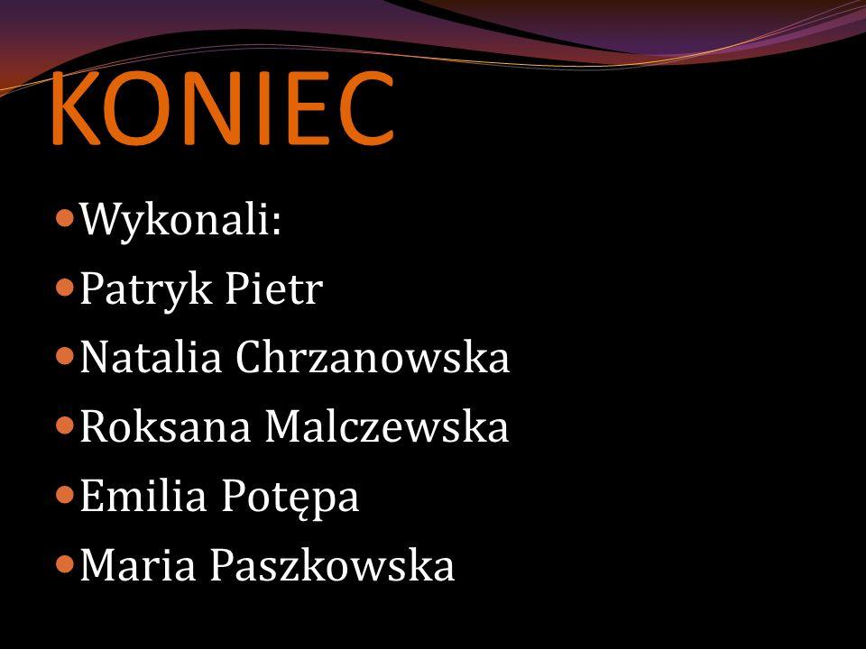 KONIEC Wykonali: Patryk Pietr Natalia Chrzanowska Roksana Malczewska