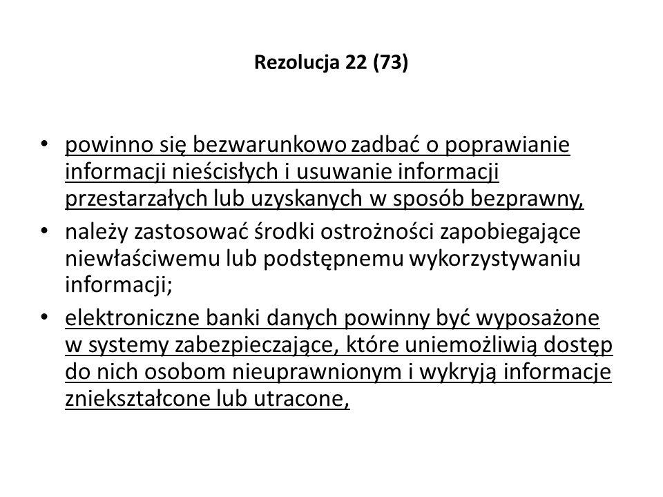 Rezolucja 22 (73)