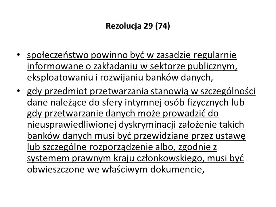 Rezolucja 29 (74)