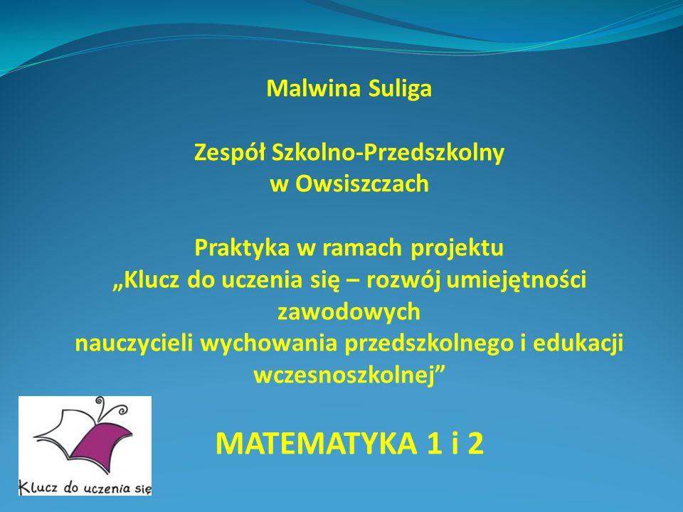 MATEMATYKA 1 i 2 Malwina Suliga Zespół Szkolno-Przedszkolny
