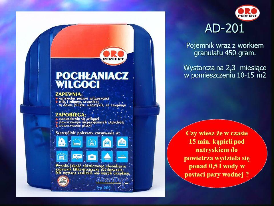 AD-201 Pojemnik wraz z workiem granulatu 450 gram
