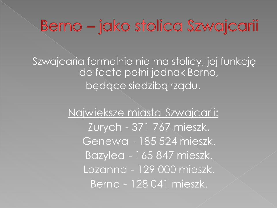 Berno – jako stolica Szwajcarii