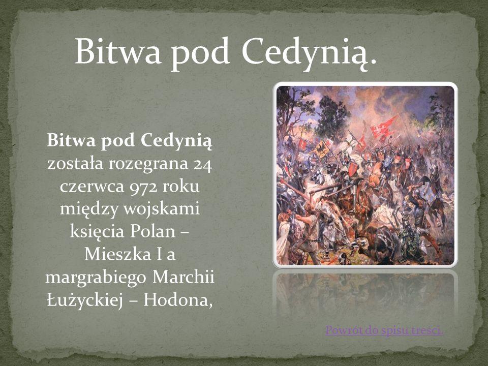 Bitwa pod Cedynią.