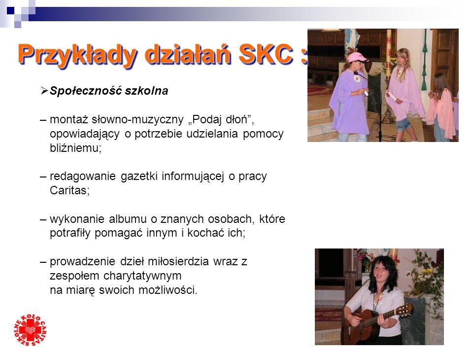 Przykłady działań SKC :
