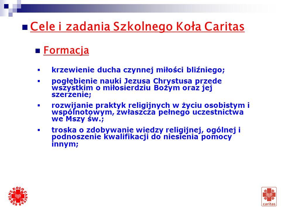 Cele i zadania Szkolnego Koła Caritas