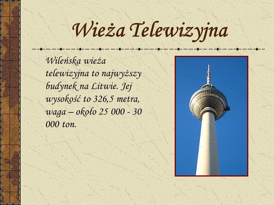 Wieża Telewizyjna Wileńska wieża telewizyjna to najwyższy budynek na Litwie.