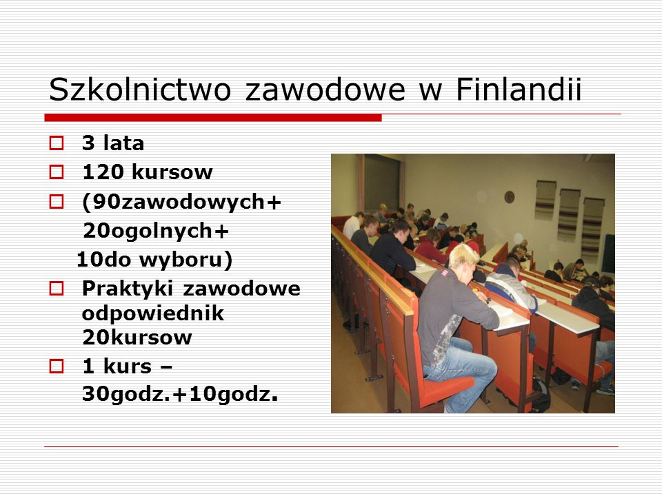 Szkolnictwo zawodowe w Finlandii